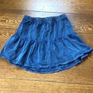 Nordstrom Rubbish Washed Blue Flounce Miniskirt XS